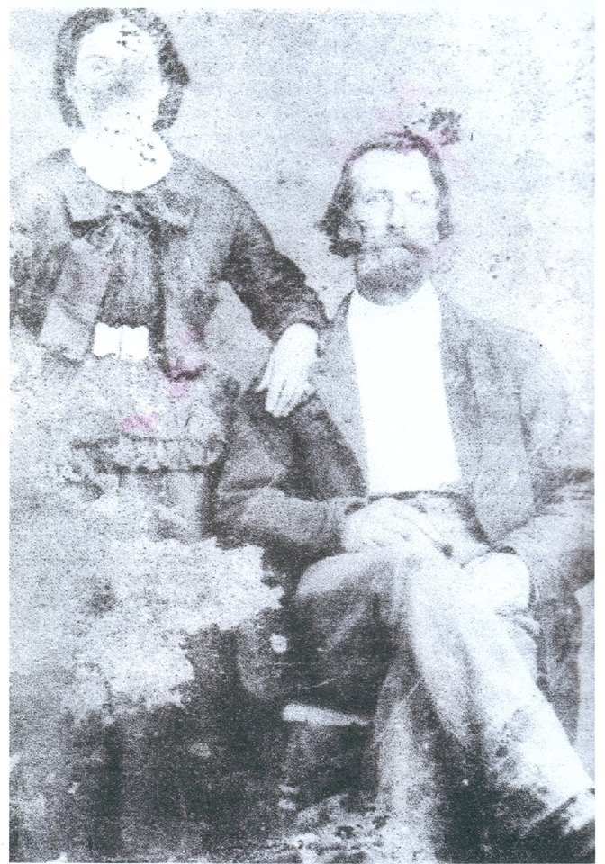 "Corporal Greeneville Hager Company ""2H""  60th Virginia Infantry with his wife Nancy Wimmer Hager"